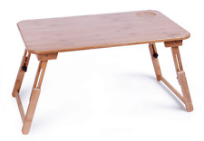 BAMBOO Folding Table height adjustable laptop stand use in bed multiple use 床用桌
