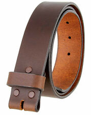 "5138 MADE IN USA ONE PIECE FULL LEATHER BELT STRAP 1-1/2"" (38mm) WIDE 2 COLORS"