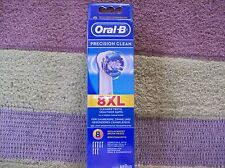 Genuine Braun Oral B Precision Clean Brush Head x 8 Pack