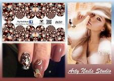 #2630 Slider design for nail art (decal stickers for gel polish, acrylic)