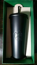 STARBUCKS COLD CUP MATTE BLACK RARE STAINLESS STEEL TUMBLER 24 fl oz SOLD OUT