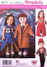 """18"""" GIRL & BOY DOLL CLOTHES Dr. Who*American Made Simplicity Sewing Pattern 8111"""