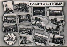 SALUTI DALLA SICILIA - VEDUTINE viaggiata 1957