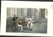 1896 History Of Napoleon Bonaparte Las Casas Son Writing Dictation COLOR PRINT