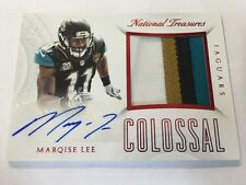 2015 Panini National Treasures Marqise Lee 15/25 Autograph 4 Patch Card Jaguars