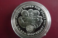 *Selten !!! Jamaika 25 Dollars Silber PP 1995* 50 Jahre UNO