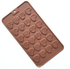 Silicone Love Heart Chocolate Mould Fondant Cake Cookie Candy Ice Baked Mold