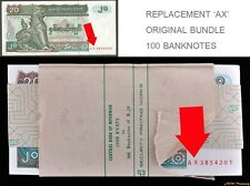 FULL BUNDLE BURMA 20 KYAT P-72 ALL REPLACEMENT 100 BANKNOTE 'AX' BANK PACKING