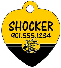 Wichita State Shockers Personalized Dog Tag Pet ID w/ Name & Number