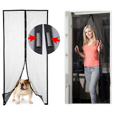 2 Sets Of Magic Mesh Magnetic Instant Hands-Free Screen Doors For Home Pets Bugs