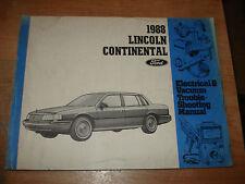1988 LINCOLN CONTINENTAL WIRING VACUUM DIAGRAMS SHOP MANUAL SERVICE BOOK REPAIR