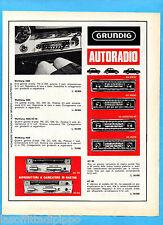 QUATTROR967-PUBBLICITA'/ADVERTISING-1967- GRUNDIG - AUTORADIO  (versione A)