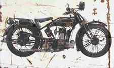 Ardie TM500 1928 Aged Vintage SIGN A4 Retro