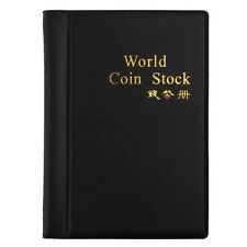 NEW 120 Coins Collection Holders Storage Money Penny Pocket Album Book Folder