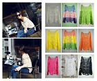 New Semi Sheer Women Embroidery Floral Hollow Lace Crochet T-Shirt Top Blouse