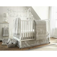 Levtex Baby Baby Ely Grey 5 Piece Crib Bedding Set Crib Fitted Sheet, Dust Ruffl