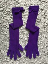 Beautiful Elegant Sonia By Sonia Rykiel Merino Wool Long Over Elbow Bow Gloves