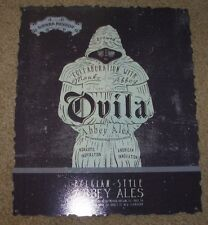 SIERRA NEVADA Ovila Abbey Ales METAL TACKER SIGN craft beer brewery brewing