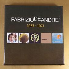 [AP-085] CD - FABRIZIO DE ANDRE' - 1967/1971 - BOX 5CD SONY - OTTIMO