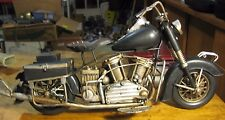 HARLEY DAVIDSON  INDIAN FATBOY MOTORCYCLE  HANDCRAFTED MODEL FIGURINE  METAL ART