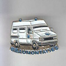 RARE PINS PIN'S .. CAMION TRUCK SAMU SMUR AMBULANCE SECOURS RENAULT BEAUMONT ~AW