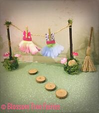 Fairy Washing Line Fairy Door Fairy Garden Miniature Accessory Stepping Stones