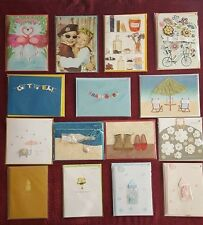 LOT of 15 PAPYRUS Greetings Cards Assorted, Blank, Friendship, Bella Pilar