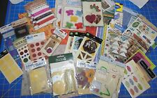 Lot of 34 Various Mixed Scrapbooking Embellishments Stickers Paper All Brand New