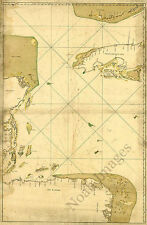 Map of Caribbean Sea from Florida Keys to Nicaragua c1700s repro 24x36