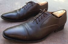 Santoni Cap Toe Captoe Oxford Brown Mens 12 D Made in Italy
