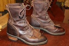 NICE BROWN LEATHER Ladies ROPER PACKER BOOTS 8 M