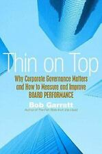 Thin on Top: Why Corporate Governance Matters & How to Measure, Manage-ExLibrary