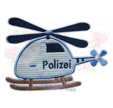 Polizei Hubschrauber Aufbügler Aufnäher Bügelbild Patch Sticker zum aufbügeln