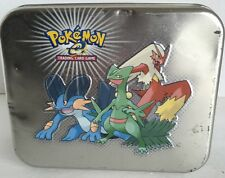 Pokemon Empty Metal Tin Trading Card Box 6x5 Rectangle 2003 Nintendo Used