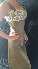 Oscar De La Renta Couture Designer Silk Wedding Dress, Crystals. Price Tag $7800
