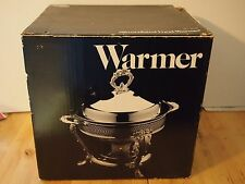 Leonard Silver Company Silverplated Food Warmer Chafing Dish 2 Qt Glass Liner