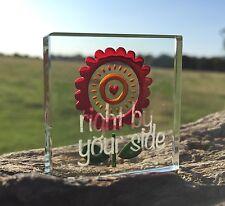 Spaceform Miniature Glass Token Red Flower Bursting With Love Keepsake Xmas Gift