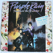 PRINCE PURPLE RAIN LP Made IN ISRAEL  Hebrew 1984 Printing error Record 925110-1