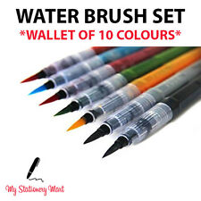 10 Coloured Water Brush Pen for Water Colour Calligraphy Like Pilot Pentel Koi