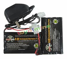 2x Ni-cd 9.6v 2400mAh Rechargeable Battery + Main Charger Tamiya Connector USA