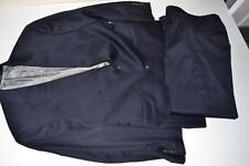 HART SCHAFFNER MARX HSM NAVY BLUE PINSTRIPED 2 BUTTON SUIT BLAZER MENS SIZE 42R