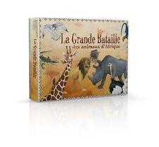 LA GRANDE BATAILLE DES ANIMAUX D'AFRIQUE Jeu de carte, apprentissage Valroc