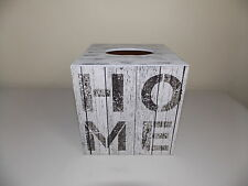 Shabby Chic Rustic Tissue Box Cover wooden decoupage handmade
