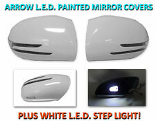 USA 06-08 W164 M/ML Arrow LED Side Painted White Mirror Cover + LED Step Light