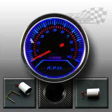 "Rev counter Tachometer gauge smoked face 2"" / 52mm 0-1000rpm Petrol car"