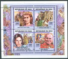 POPE JOHN PAUL II MALI + JEANNE D'ARC Block VF