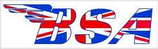 "#796 (1) 5"" BSA motorcycle tank decals stickers vinyl vintage laminated"