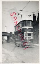 STOCKPORT TRAM POSTCARD SIZE OLD PHOTO, CAR 26 TON HYDE , 1 MARCH 1947, REF 39