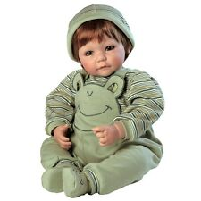 """Adora Toddler Froggy Fun Boy 20"""" Girl Weighted Doll Gift Set for Children 6+"""