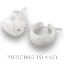 Ohrringe Flesh Tunnel Horn Plug Piercing Schmuck ER163